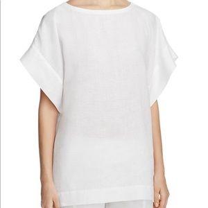 Eileen Fisher Organic Linen White Box Top Size XS